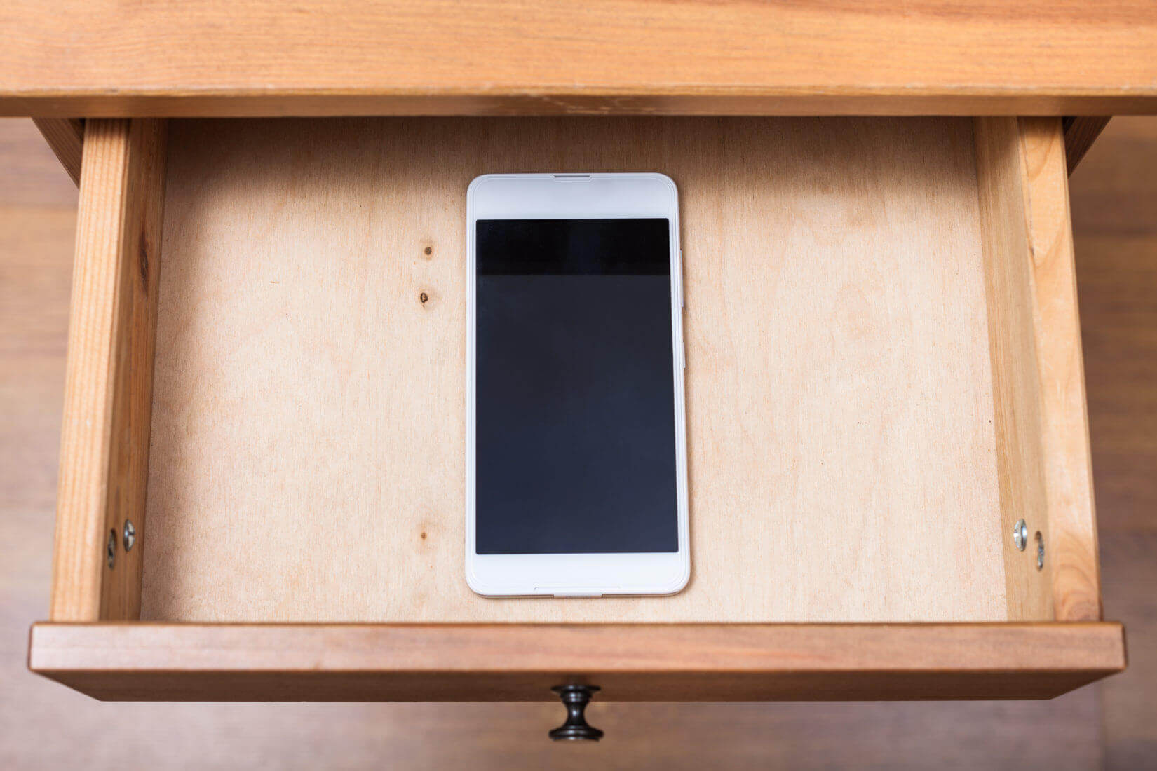 iphone in drawer