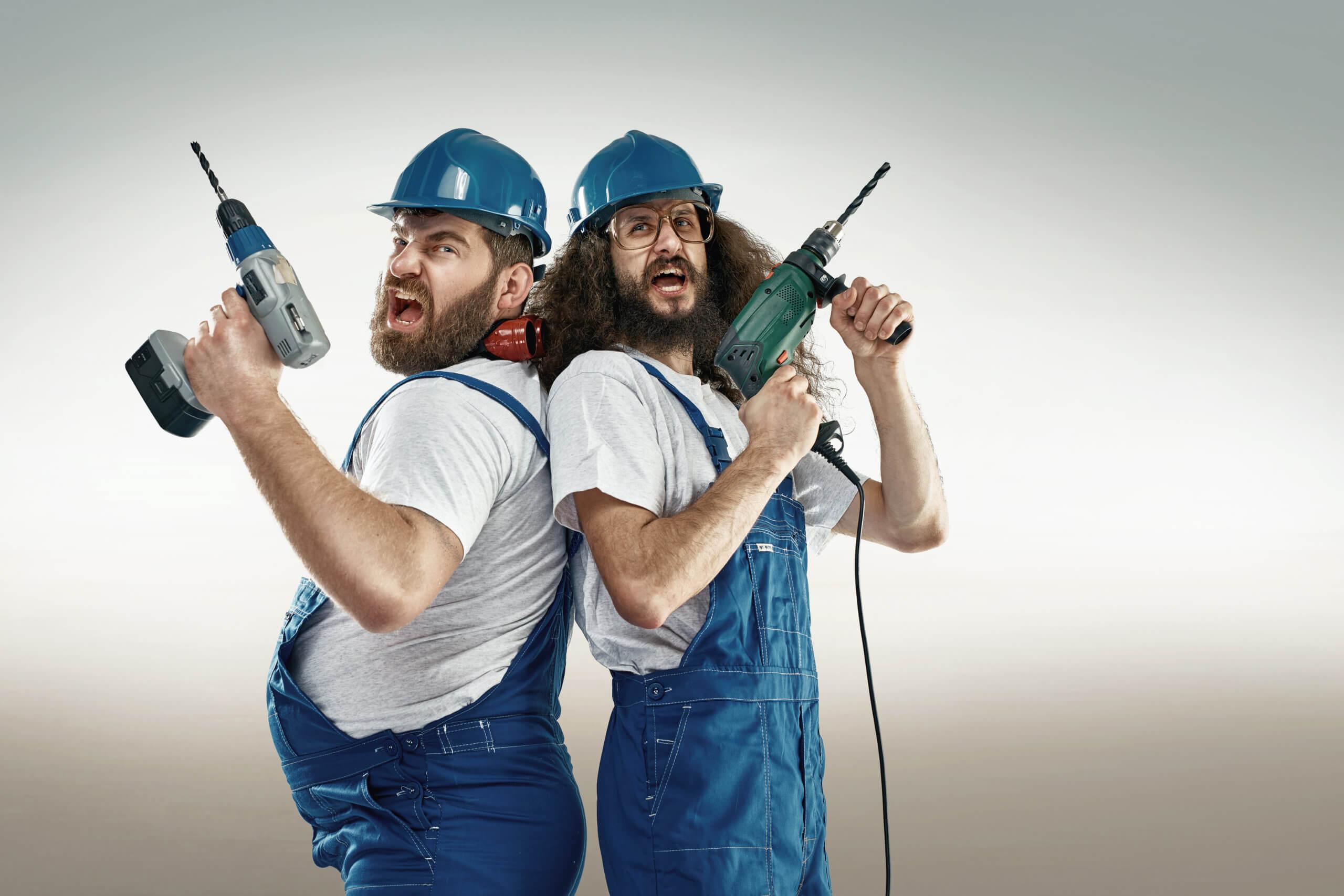 Funny men repairing iPhone screen