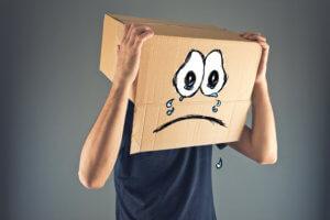 sad box man has broken face id