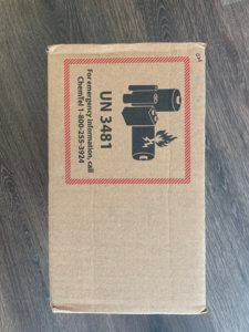 UN 3481 Label for shipping lithium ion cell phone batteries