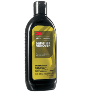 Bottle of automotive scratch remover