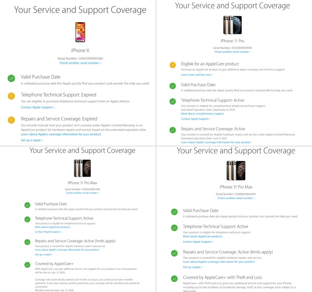 How do you know if you have AppleCare? Check AppleCare coverage.