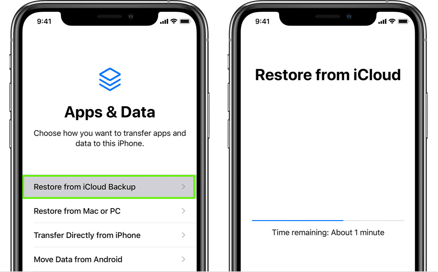 Get rid of an iPhone virus by restoring an iCloud backup