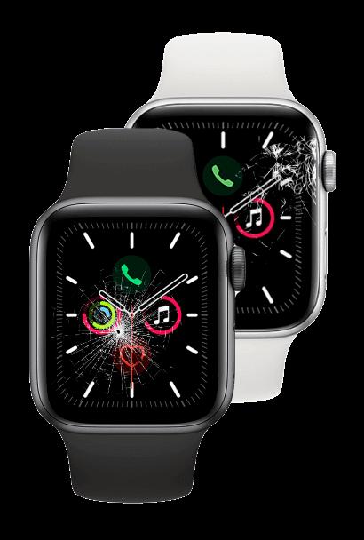 Broken, cracked Apple Watches