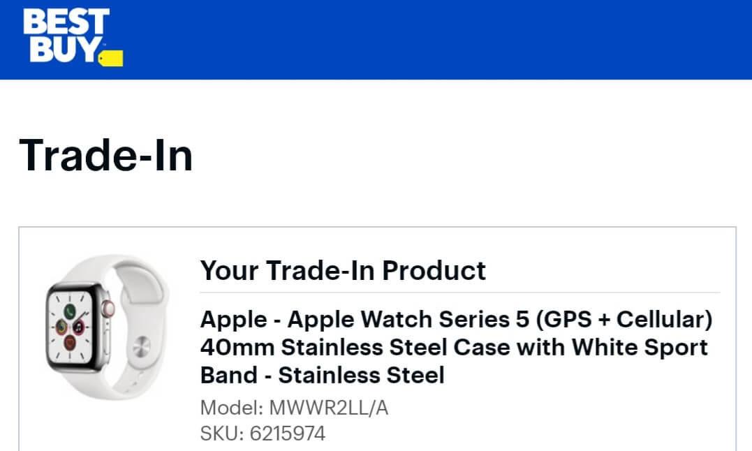Best Buy Apple Watch Trade-In Value