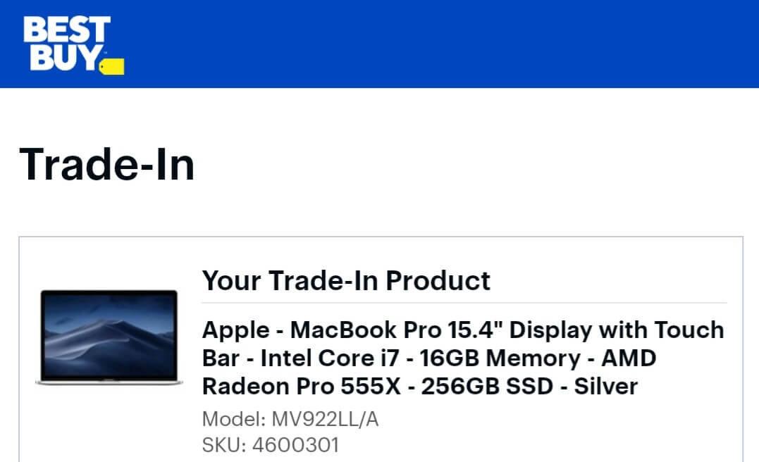 Best Buy MacBook Trade-In Value