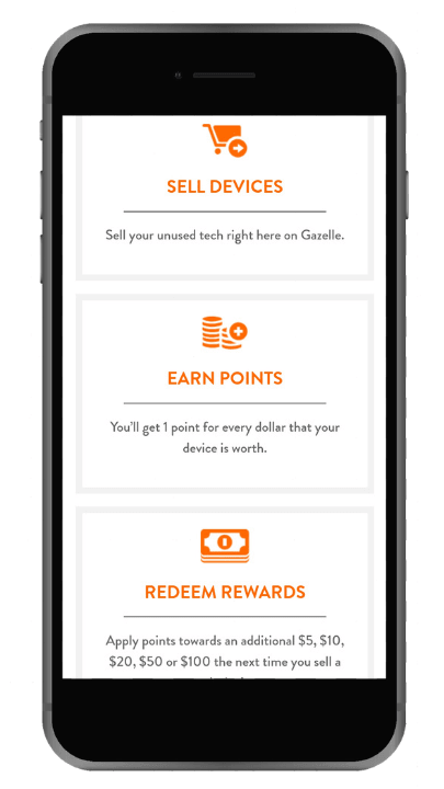 Get a trade-in bonus with Gazelle Rewards