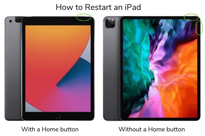 How to restart an iPad